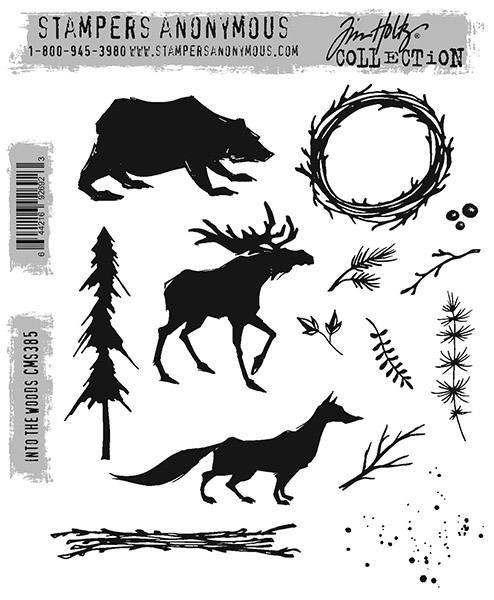 Tim Holtz Cling Stamps - Into The Woods CMS385