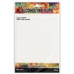 Tim Holtz Alcohol Ink Yupo Paper, White 10PK TAC49715