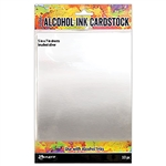 Ranger Tim Holtz Alcohol Ink Cardstock - Brushed Silver 5x7 TAC65494