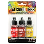 Ranger Tim Holtz Alcohol Ink Kit Orange/Yellow Spectrum TAK69645