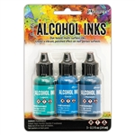Ranger Tim Holtz Alcohol Ink Kit Teal/Blue Spectrum TAK69669