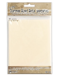 Tim Holtz Distress Mixed Media Heavystock 4.25 x 5.5, 20PK TDA53835