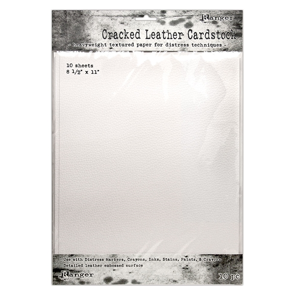 Ranger Tim Holtz Distress Cracked Leather Cardstock 8.5x11 TDA71280