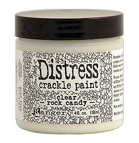 Ranger Distress Crackle Paint - Clear Rock Candy 4 oz - TDC31888