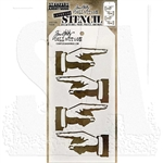 Stampers Anonymous Tim Holtz Layering Stencil - Direction THS088