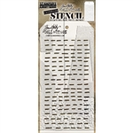 Stampers Anonymous Tim Holtz Layering Stencil - Dashes THS101