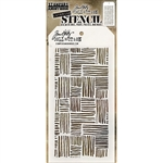 Stampers Anonymous Tim Holtz Layering Stencil - Thatched THS104