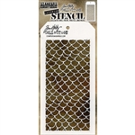 Stampers Anonymous Tim Holtz Stencil - Scales THS140