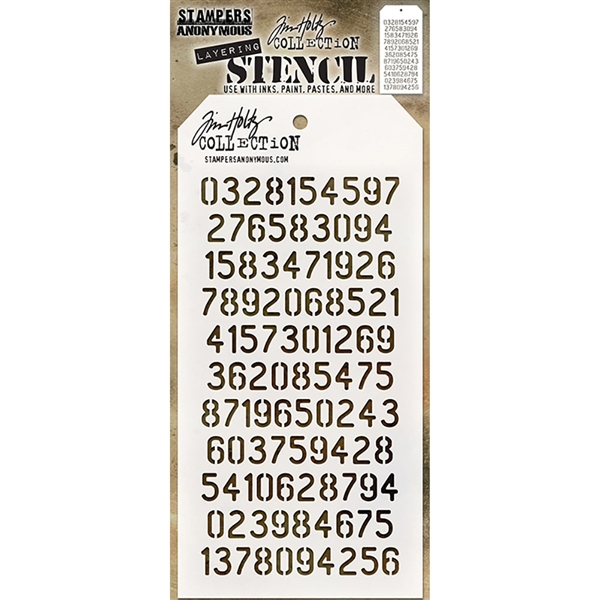 Stampers Anonymous Tim Holtz Stencil - Digits THS145