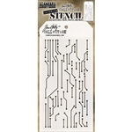 Stampers Anonymous Tim Holtz Stencil - Circuit THS146
