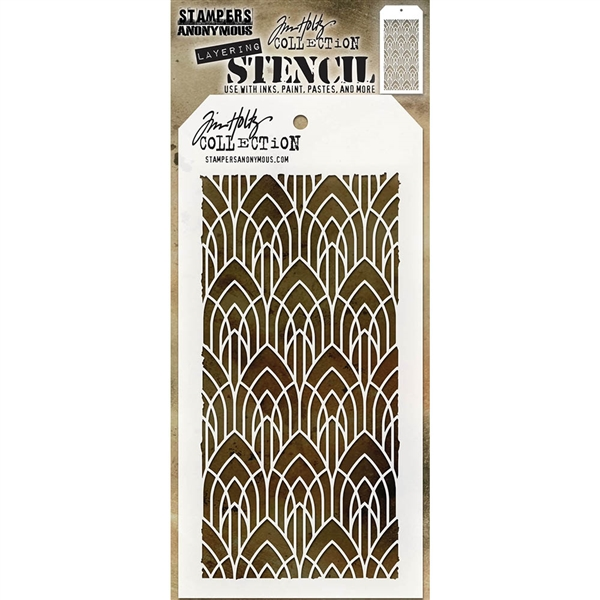Stampers Anonymous Tim Holtz Stencil - Deco Arch THS147