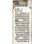 Stampers Anonymous Tim Holtz Stencil - Script THS149