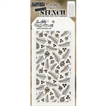 Stampers Anonymous Tim Holtz Stencil - Gatherings THS152