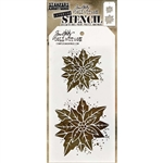 Stampers Anonymous Tim Holtz Stencil - Poinsettia Duo THS153