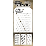 Stampers Anonymous Tim Holtz Stencil - Shifter Multi Dots THSM01