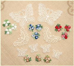 Venise Lace Butterflies - Small - Medium - Large