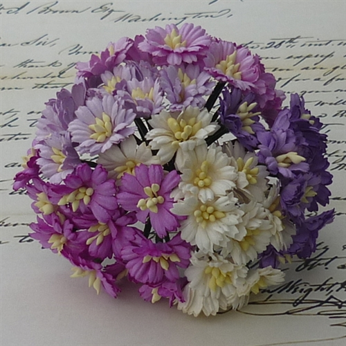 Wild orchid crafts 50 mixed purplewhite cosmos daisy stem flowers mixed purplewhite cosmos daisy stem flowers saa 149 mightylinksfo