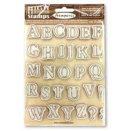 (JULY PRE-ORDER) Stamperia HD Rubber Stamp Alphabet WTKCC159