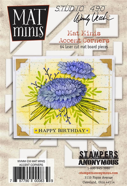 Stampers Anonymous Studio 490 Wendy Vecchi Mat Minis - Accent Corners WVMM38