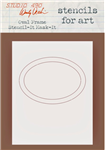 Studio 490 Wendy Vecchi Stencil - Oval Frame Stencil-It Mask-It