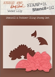 Water Lily Stamp It Stencil It from Stampers Anonymous Studio 490 Wendy Vecchi