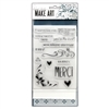 Ranger Wendy Vecchi MAKE ART Stamp, Die, Stencil Set - Merci & More WVZ71129