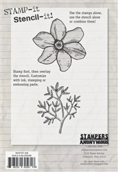 Build a Blossom Stamp It Stencil It from Stampers Anonymous Studio 490 Wendy Vecchi WVSTST006