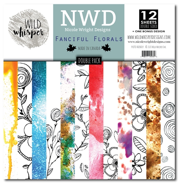 Wild Whispers Nicole Wright - Fanciful Florals Double 12x12 Paper Pack